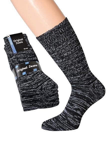 5 pares Original Hombre Jeans Calcetines blaumeliert 100% algodón: Amazon.es: Ropa y accesorios