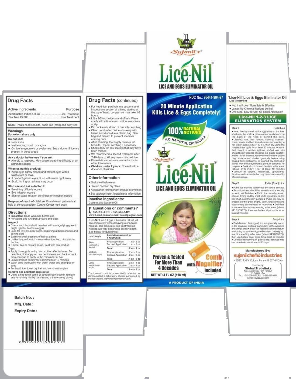 Lice-Nil Eliminator Oil, 4oz. Each (Pack of 6)
