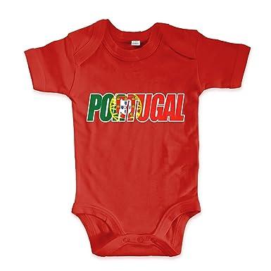 net-shirts Organic Baby Body mit Portugal Portoguesa Flagfont ...