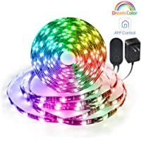 MINGER 16.4 ft. DreamColor Bluetooth Music Sync LED Strip Lights