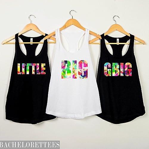 6e612427 Amazon.com: Big Little Sorority Reveal Watercolor design shirts,big little  sorority gift, Greek Shirts,big little gift for her: Handmade