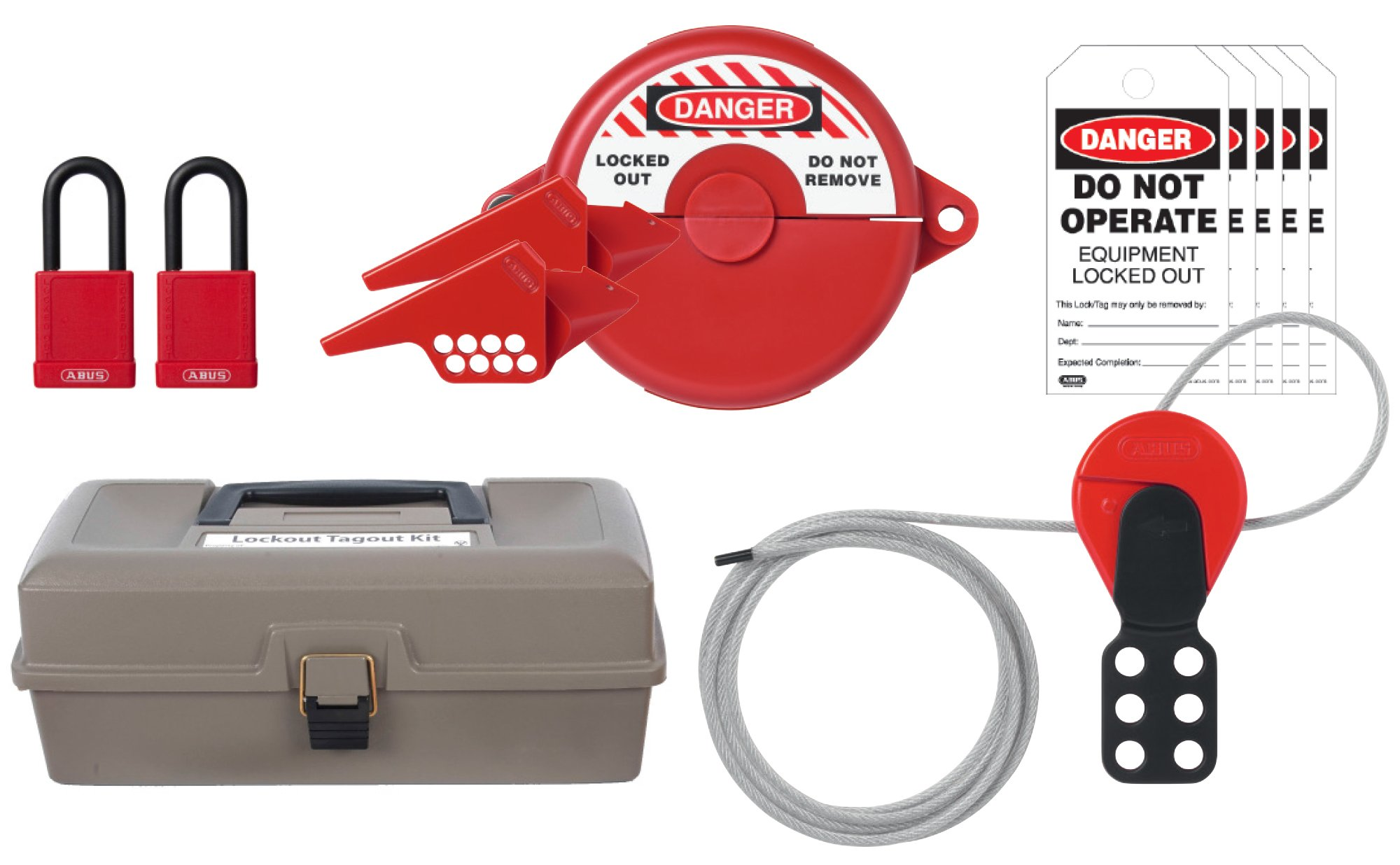 ABUS K940 Safety Lockout Tagout Valve Toolbox Kit by ABUS
