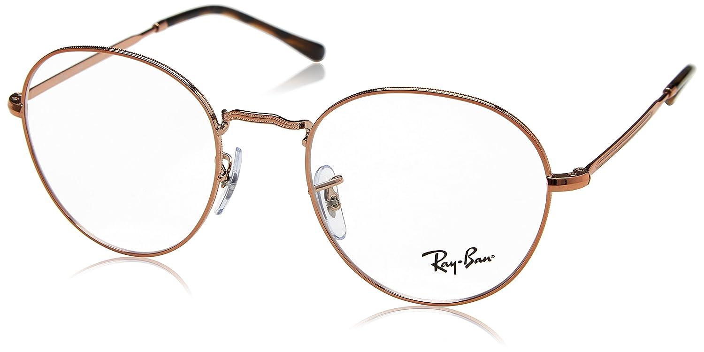 e842a81424 Amazon.com  Ray-Ban 0rx3582v No Polarization Round Prescription Eyewear  Frame Copper 49 mm  Clothing
