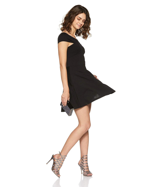 Veni VIDI VICI Black Bandage Bardot Skater Dress  Amazon.in  Clothing    Accessories b4ca60e4f