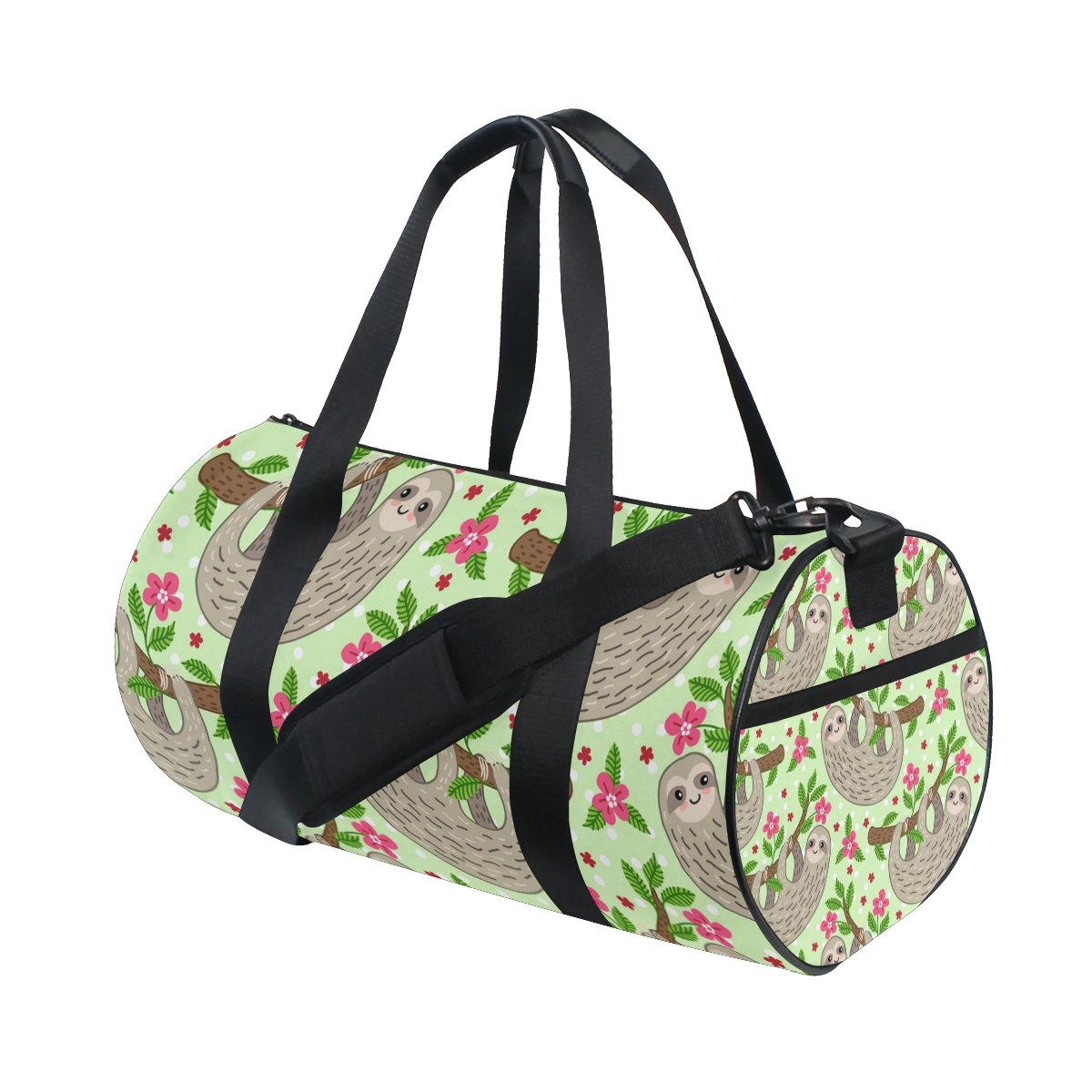 Cute Cartoon Sloth Duffle Bag Sports gym Bag Luggage Travel Bag with Shoulder Strap for Men and Women