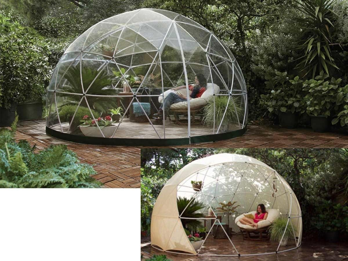 Abrigo de jardín Garden Igloo invierno + protectora verano – 10 M²: Amazon.es: Jardín