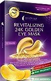 Under Eye Mask Gold Eye Mask Anti-Aging Hyaluronic Acid 24k Gold Eye Patches Under Eye Pads for Moisturizing & Reducing…