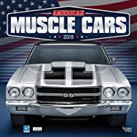American Muscle Cars 2019 Square Wall Calendar