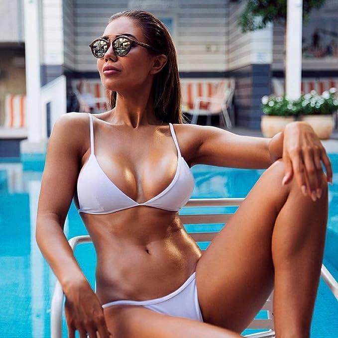 05e24d9a8e59 Mujeres Bikini,Xinan Bikini Conjunto Bandeau Acolchado Traje de Baño  Swimwear