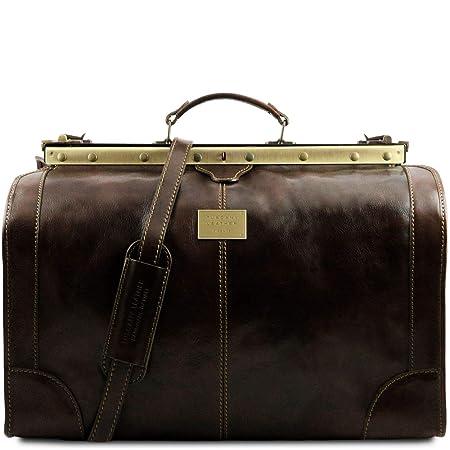 Tuscany Leather – Madrid – Gladstone Leather Bag – Large size Dark Brown – TL1022 5
