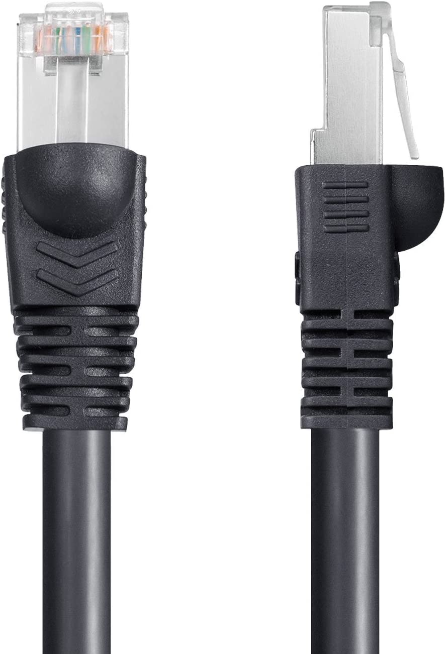 IMONTA Shielded Grounded UV Resistant Waterproof Buried-able Network Cord Outdoor Ethernet 25ft Cat6 Cable