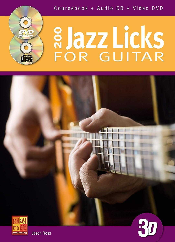 Jason Ross: 200 Jazz Licks For Guitar In 3D (Book/CD/DVD ...