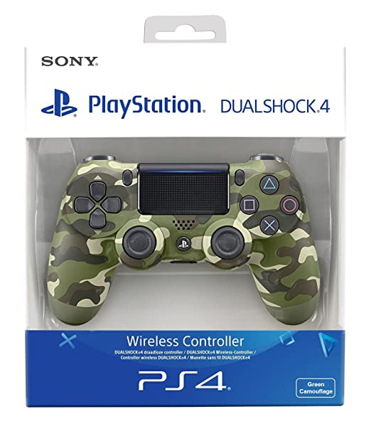 331 opinioni per PlayStation 4- Dualshock 4 Controller Wireless V2, Verde (Green Camo)