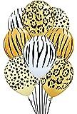 Qualatex Safari Assortment Biodegradable Latex Balloons 11-Inch (12-Units)
