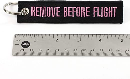 Black//Pink RBF1258 Rotary13B1 Remove Before Flight Keychain