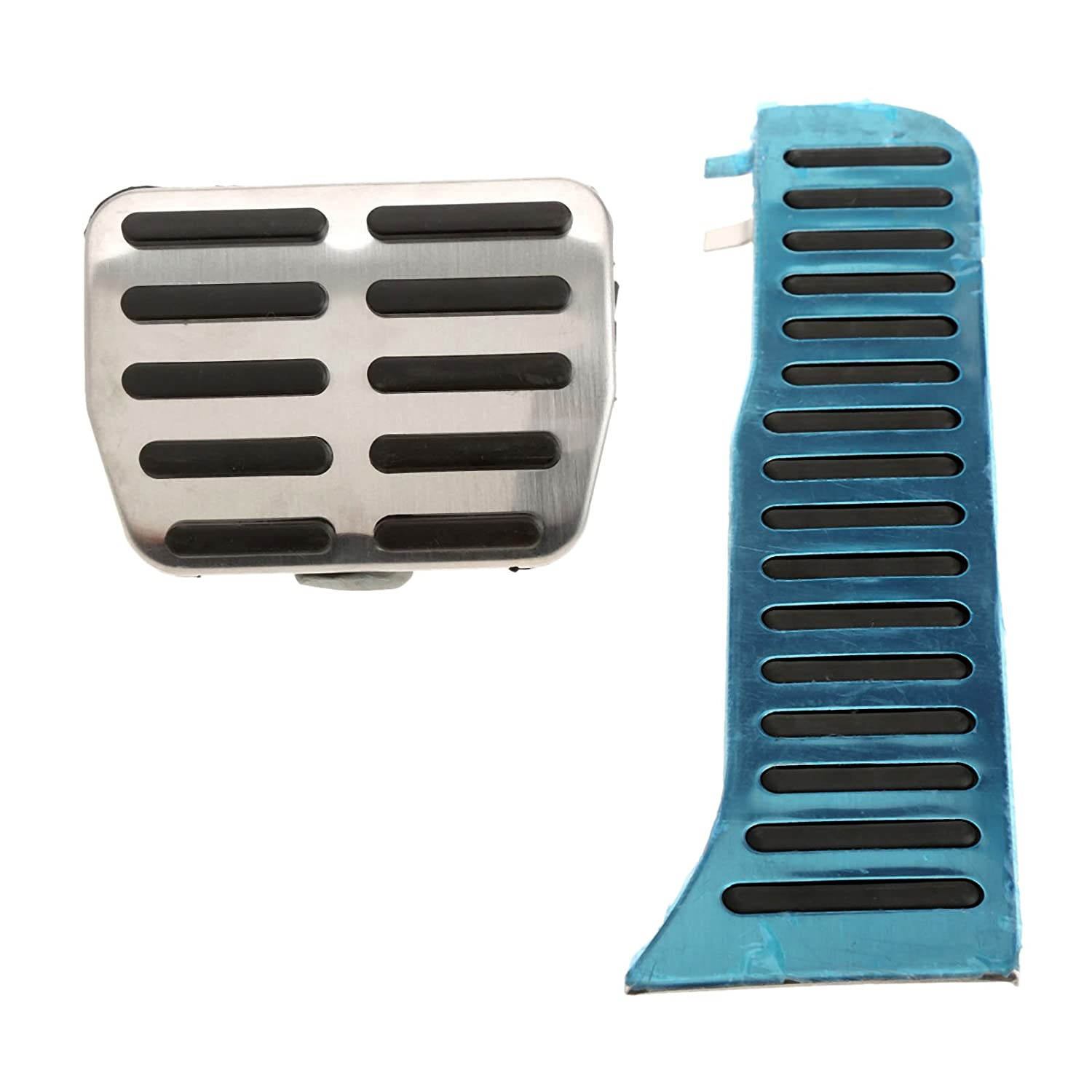 Mtsooning 1 Set Non Drilling Fuel Gas Brake Foot Pedal Plate Pad for Audi Q3 at