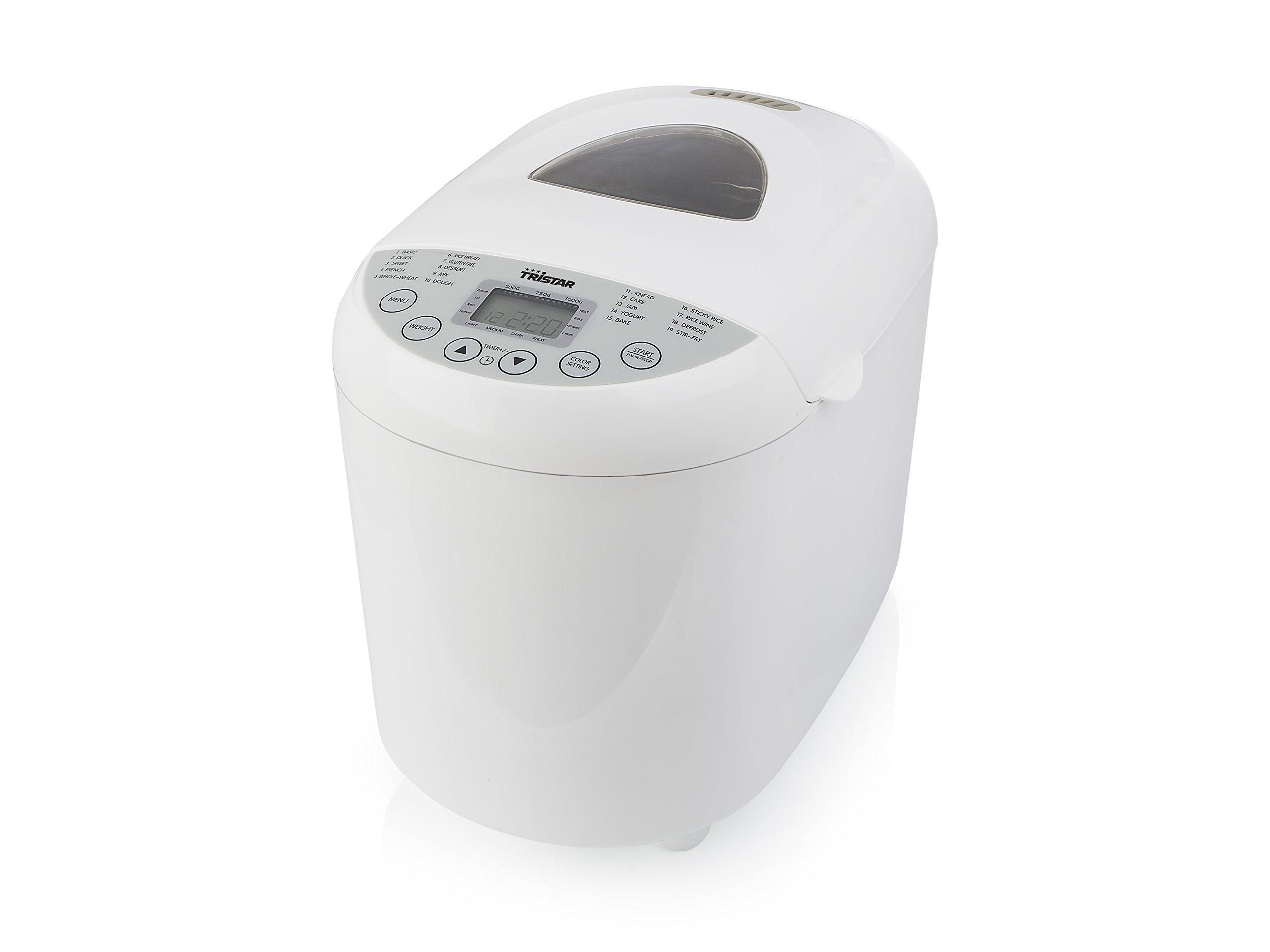 Panificadora Tristar BM-4586 – Grado de tostado de la corteza ajustable – programa sin