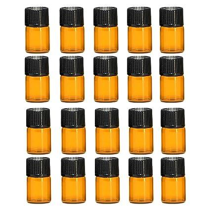Esencial Botella de Aceite[20PCS],Vococal® Portátiles 2ML Botellas de Vidrio Recargables