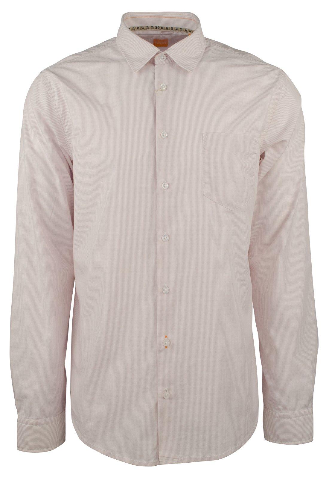 Hugo Boss Men's Orange Label EnameE Slim Fit Striped Shirt-PW-XXL