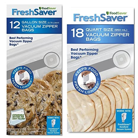 FoodSaver FreshSaver 18 quart-sized y 12 gallon-sized al ...