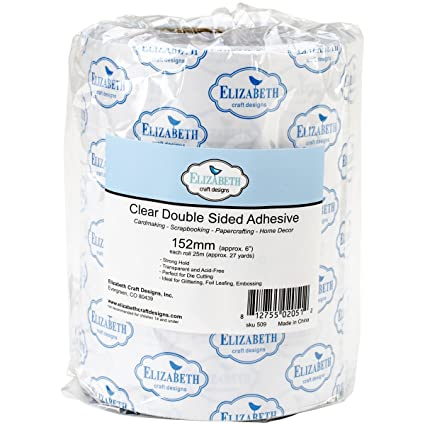 Amazon Com Elizabeth Craft Designs Clear Double Sided Adhesive Roll