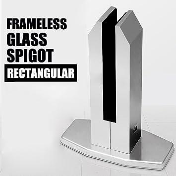 Kinmade Frameless Glass Pool Fence Spigot Balustrade Post 7 Height With Rectangular Base Amazon Com