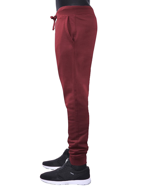 04ce9e3ef40 Hat and Beyond Mens Fleece Jogger Pants Elastic Active Basic Urban Harem  Slim Fit