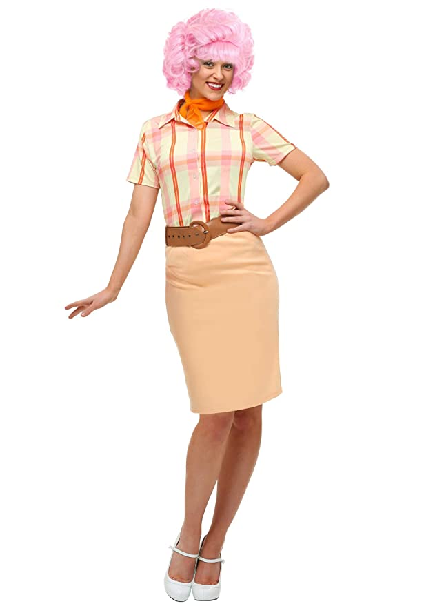 1950s Costumes- Poodle Skirts, Grease, Monroe, Pin Up, I Love Lucy Grease Frenchy Plus Size Adult Costume $44.99 AT vintagedancer.com
