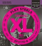 D'Addario ダダリオ ベース弦 フレックススティール Long Scale 6弦 .032-.130 EFX170-6 【国内正規品】