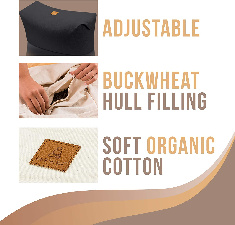 67 cm and diameter approx certified organic produce Rectangular yoga bolster /»Paravati/« with organic spelt hull ideal as yoga cushion // zafu cushion // meditation cushion // meditation mat // high sitting comfort // length approx 13 cm