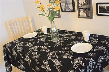 Outdoor Küche Aus Japan : Schwarze blumen stickerei tischdecken minimalistischen japanischen