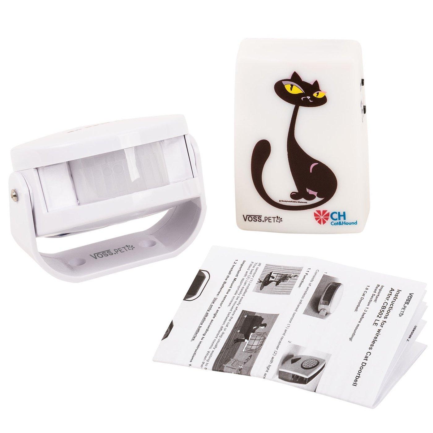 Unbekannt Cat Doorbell - Timbre de Puerta para Gatos con luz y Sonido Señal | Timbre de Gato | Alternativa para Gato Tapa, Detector de Movimiento, Sensor ...