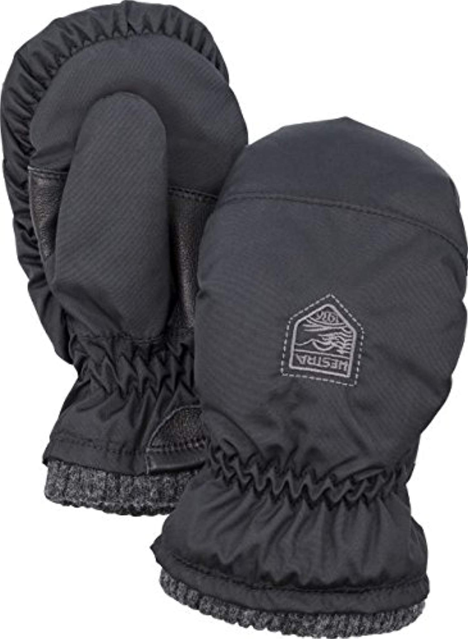 Hestra Youth My First Hestra - Mitts Black 1 & Knit Cap Bundle