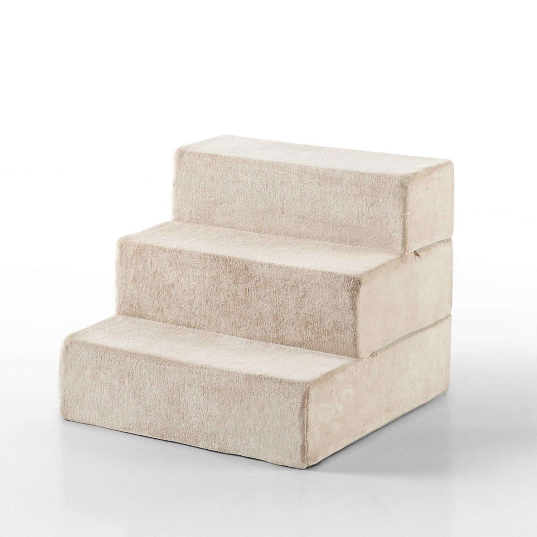 Zinus 3 Step Comfort Pet Stairs/Pet Ramp/Pet Ladder, Small