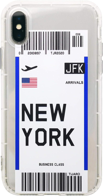 Tijaro - Carcasa para iPhone X, XS, XR, 11, 11 Pro, 11 Pro Max en forma de billete de avión: Amazon.es: Electrónica