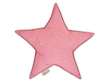 Fuerza Kids Decoración Estrella Cojín líneas doradas en ...