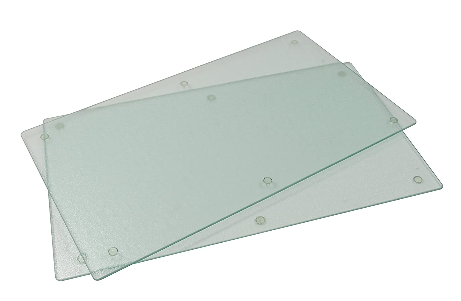 Jocca 2-in-1 Glass Hob Cover/Chopping Board, Transparent, Set of 2 ...