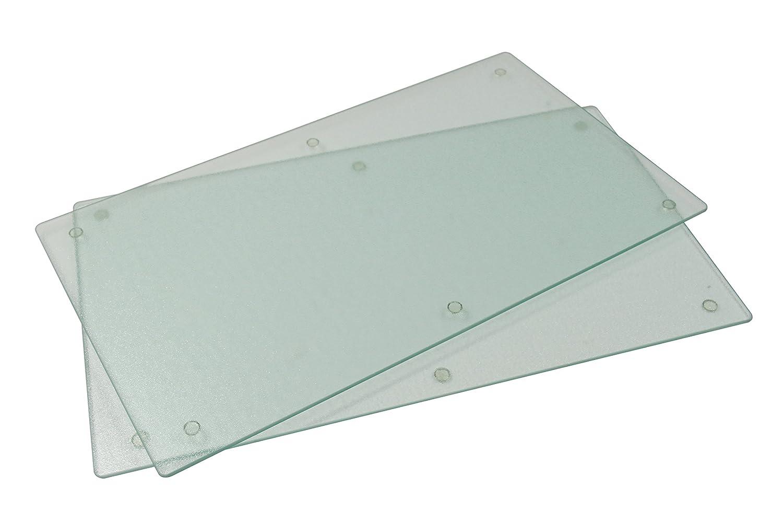 Jocca 2-in-1 Glass Hob Cover/Chopping Board, Transparent, Set of 2 QUALIMAX INTERNATIONAL S.L. 6411 6411_traslucida