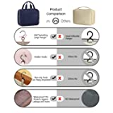 BAGSMART Toiletry Bag Travel Bag with hanging hook, Water-resistant Makeup Cosmetic Bag Travel Organizer for Accessories, Shampoo, Full Sized Container, Toiletries, Smokey Blue