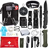 Emergency Survival Kit 47 in 1 Professional Survival Gear Tool First Aid Kit SOS Emergency Tactical Flashlight Knife…