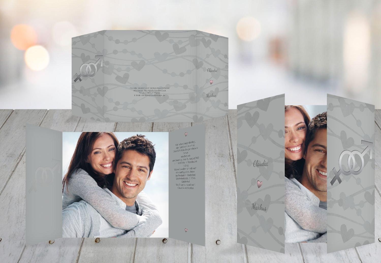 Kartenparadies Hochzeitskarte Einladung Im Zeichen der Liebe, hochwertige Einladung zur Heirat inklusive Umschläge   10 Karten - (Format  145x145 mm) Farbe  DunkeltiefBlau B01MYAFC2O | Niedrige Kosten  | Einzigartig  | Stilvoll und lustig