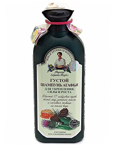 """Grandma Agafia's Recipes """"Melt Water"""" Herbal Shampoo Thick 350ml Strenght and Growth"""
