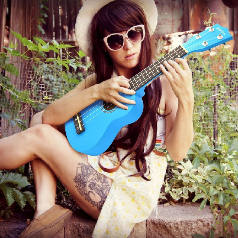Soprano Ukulele Beginner Pack-21 Inch w//Gig Bag Fast Learn Songbook Digital Tuner All in One Kit