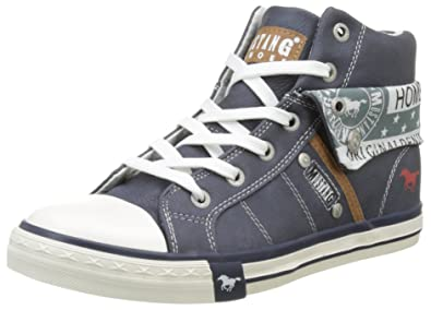 Womens 1146-503-800 Hi-Top Sneakers, Blue (800 Dark Blue) Mustang
