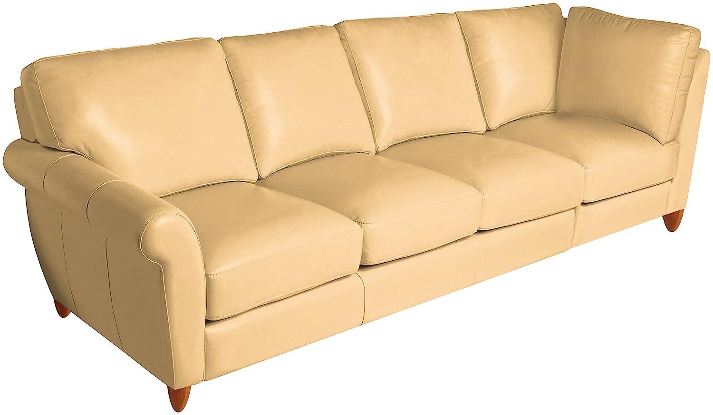 Amazon.com: Omnia Leather Cameo Left Arm 4 Cushion Sofa with ...