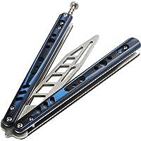 Alliage de Titane Léger CSGO Équipement Couteau avec Trous et Loquet à Ressort CS/HDD40 Bleu