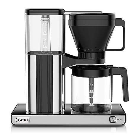 Amazon.com: Cafetera de 10 tazas con un solo toque, cafetera ...