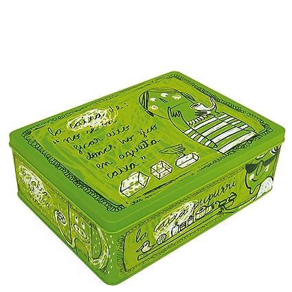 Laroom Caja metálica, Metal, Verde