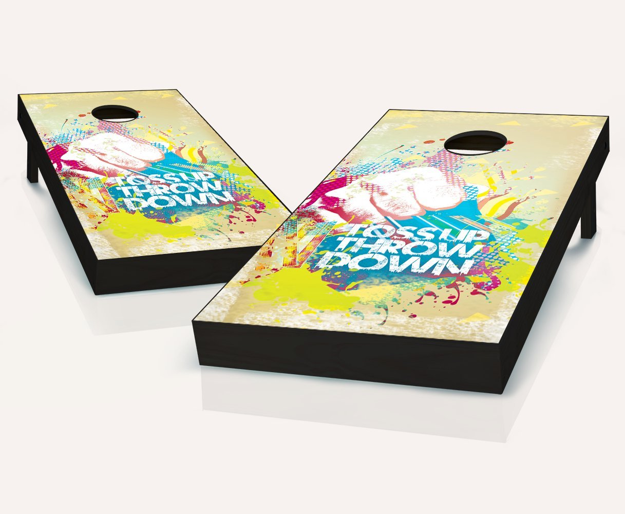 Tailgating Pros Toss Up Throw Down Cornhole Boards withのセット8 Cornhole Bags