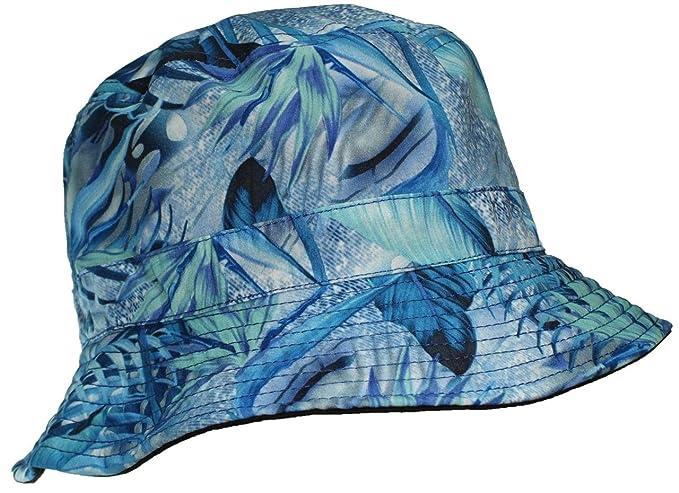 59a7f038839aff E-Flag Original Adult Reversible Hawaiian/Tropical Lightweight Cotton  Bucket Hat - Blue